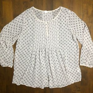 Old Navy Flowy Sheer Blouse